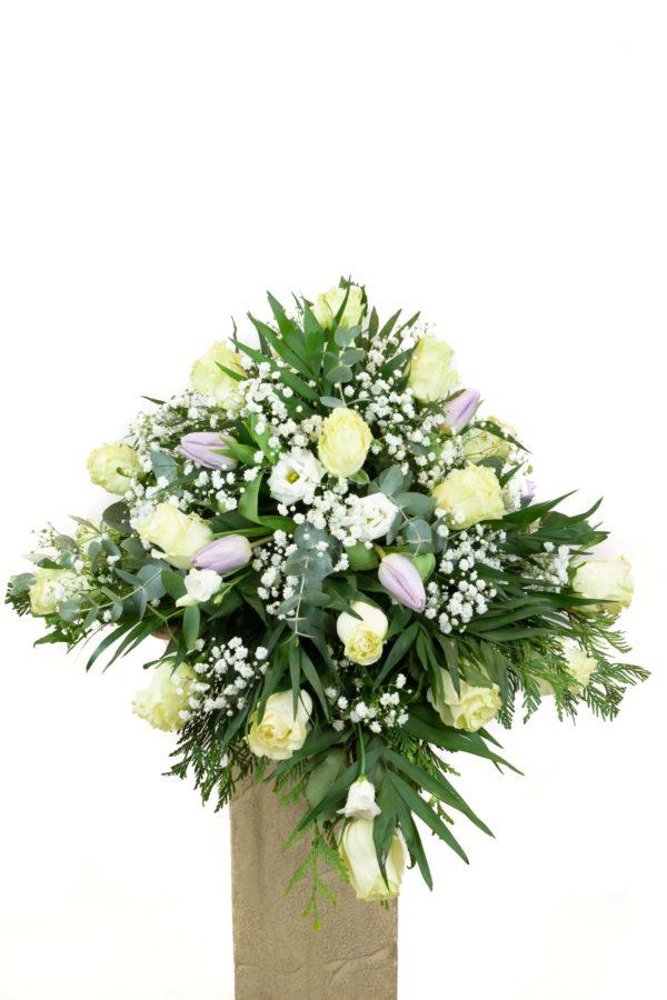 Cubre féretro pequeño flores variadas